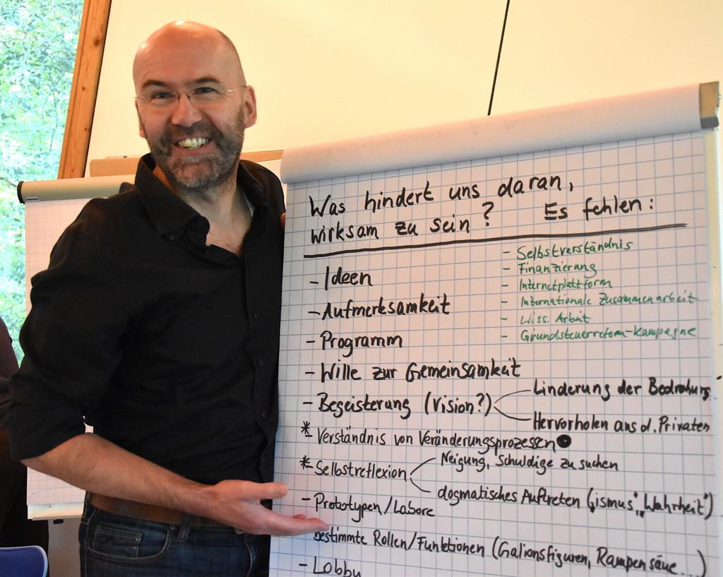Holger Kreft beim Vernetzungstreffen der Freiwirtinnen und Freiwirte,21-23. September 2018.
